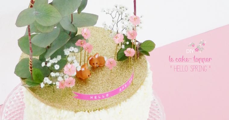 """DIY ♥ LE CAKE-TOPPER """"HELLO SPRING"""""""